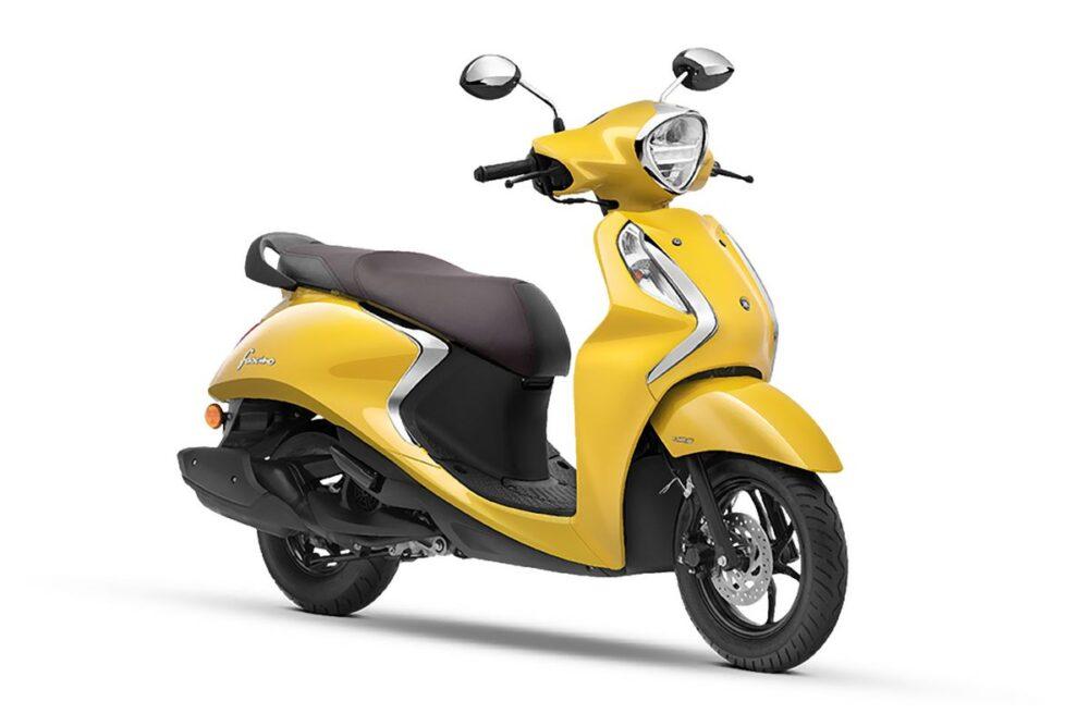 yamaha fascino 125 fi hybrid yellow