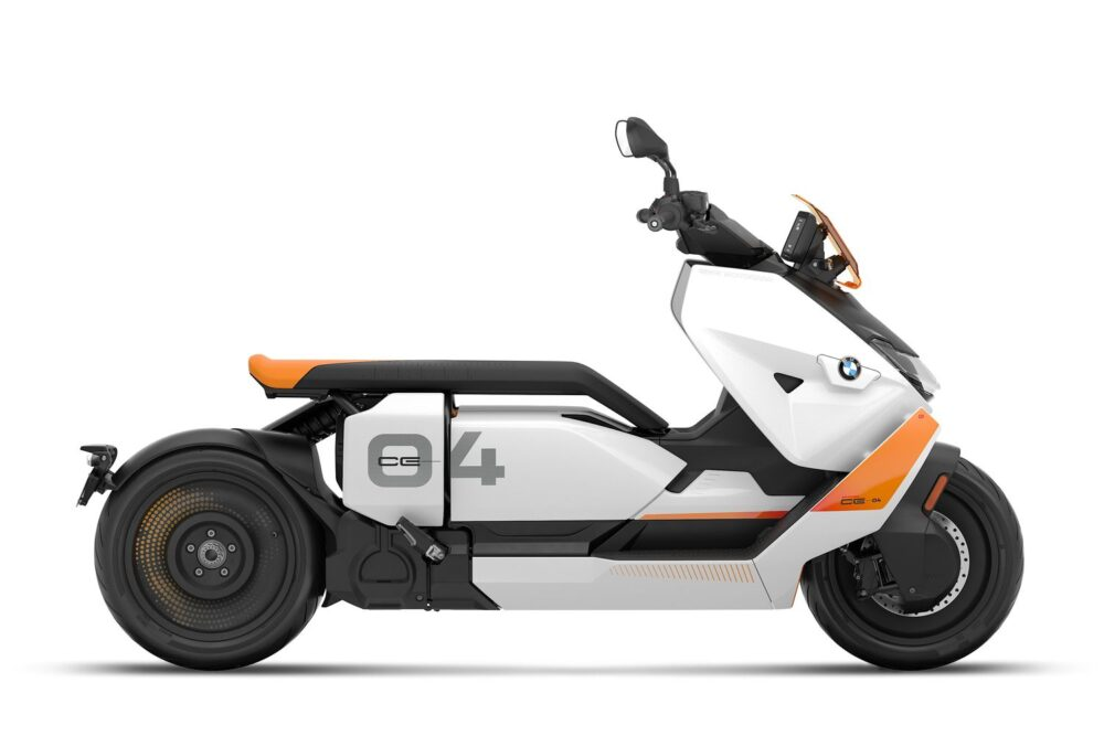 bmw ce 04 white orange right side