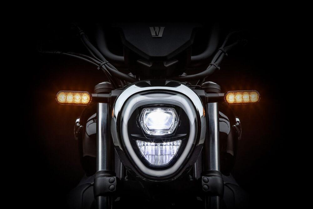 2022 haojue tr300 custom cruiser headlight