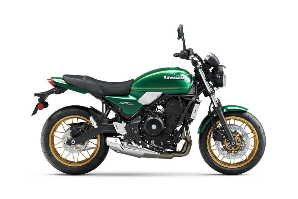 2022 kawasaki z650rs green right