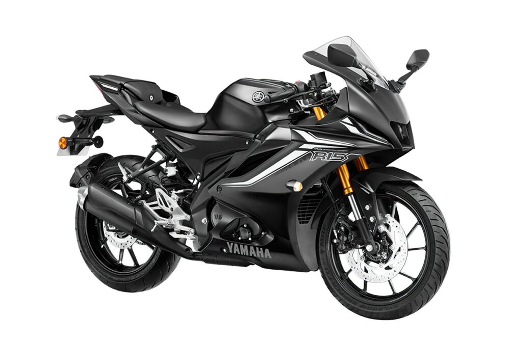 2022 yamaha r15 version 4 black front