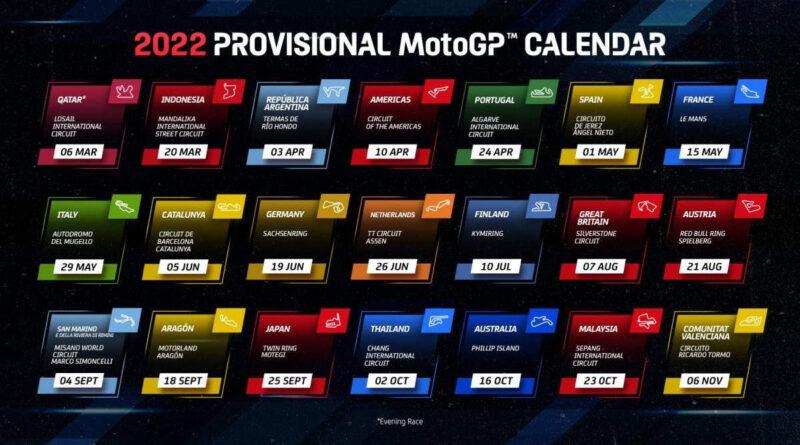 2022 motogp calendar