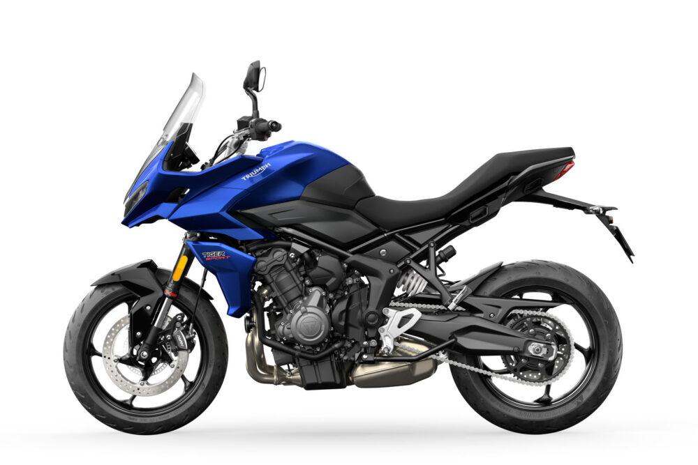 2022 tiger sport 660 blue left side