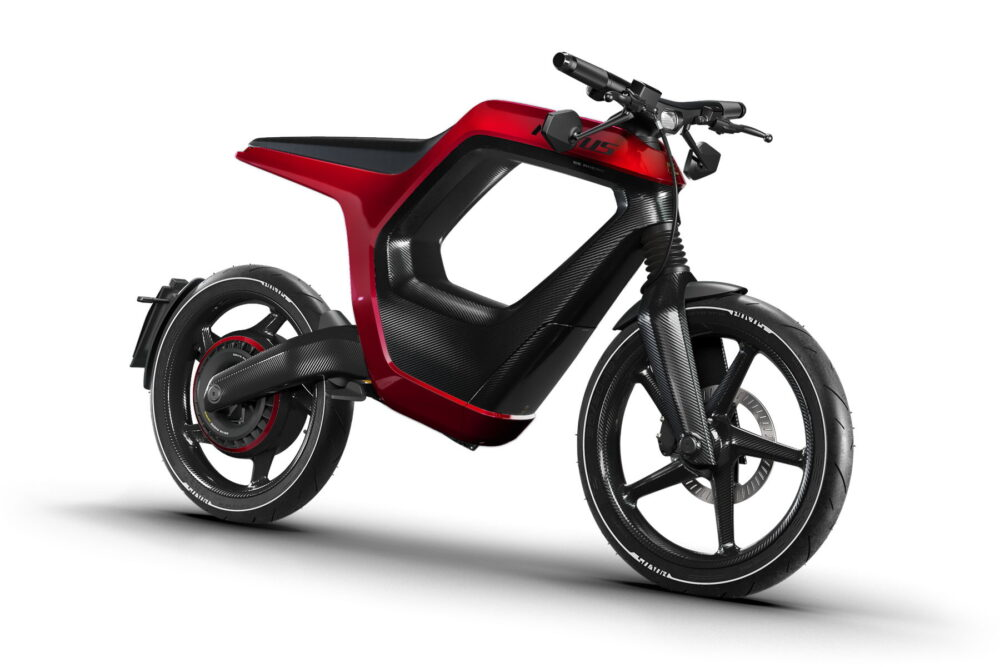 novus electric bike carbon fiber red